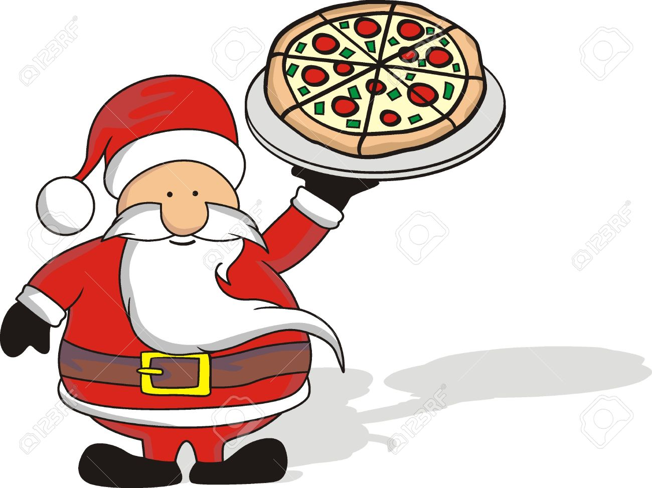 1300x973 Santa Clipart Pizza