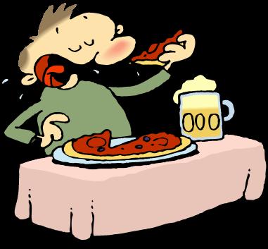 381x353 Cartoon Eating Pizza