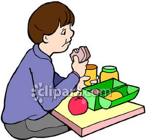 300x286 Boy Eating Snack Clipart