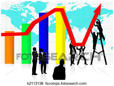 450x340 Stock Illustration Of Jointly Working On Economic Recovery