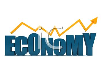 350x263 3d Economy Text With An Arrow Showing A Rise