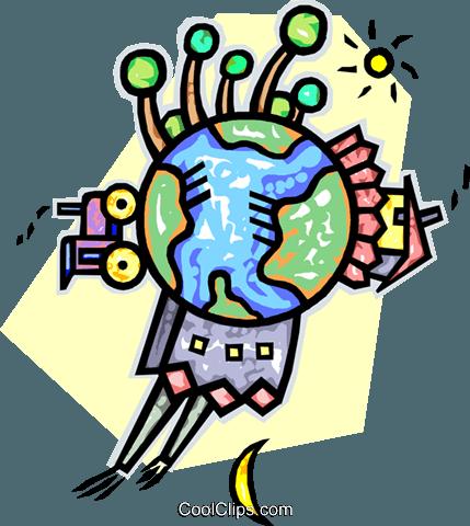 429x480 Global Economy Royalty Free Vector Clip Art Illustration Vc016140