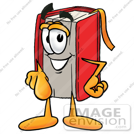 450x450 Clip Art Graphic Of A Book Cartoon Character Pointing