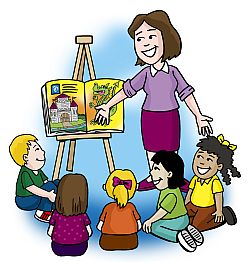 250x262 Teacher Reading To Kids Clipart