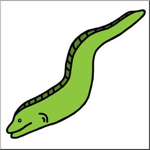 304x304 Clip Art Eel Color 1 I Abcteach