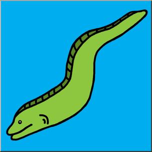 304x304 Clip Art Eel Color 2 I Abcteach
