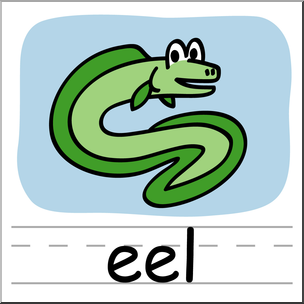 304x304 Clip Art Basic Words Eel Color Labeled I Abcteach