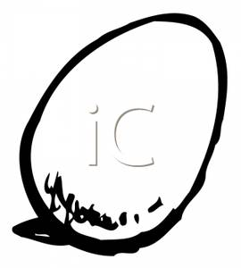 Egg Black And White Clipart
