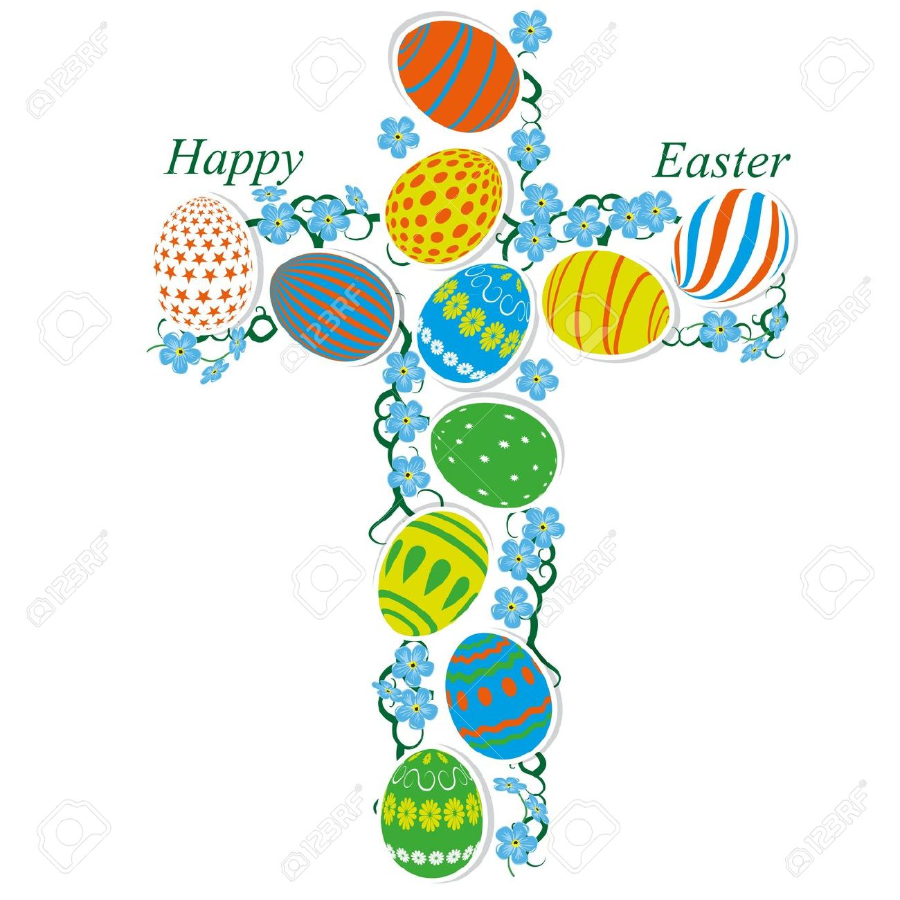 1300x1300 Easter Cross Borders Happy Easter 2017