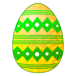 250x250 Pastel Easter Egg Clipart