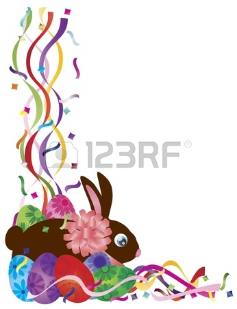 346x450 Yellow Chick Carrying An Happy Easter Day Basket Of Colorful