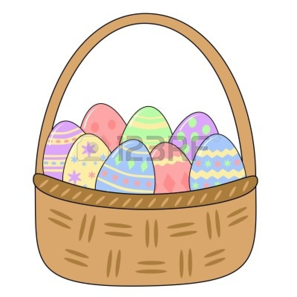 1200x1200 Egg Basket Clipart