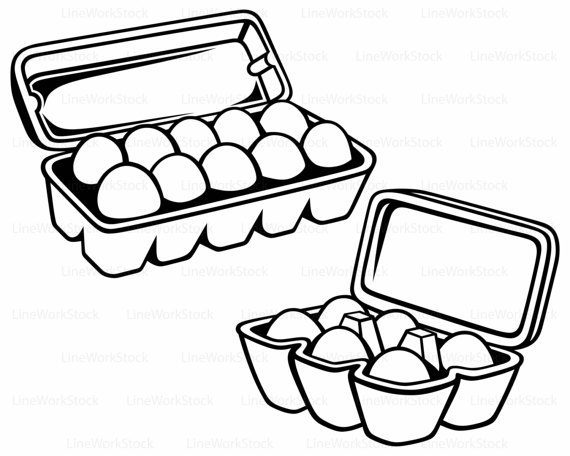 570x456 Eggs Package Svg,food Clipart,egg Svg,package Silhouette,carton