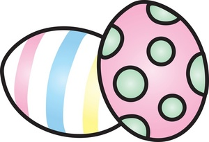 300x205 Painted Easter Eggs Clip Art