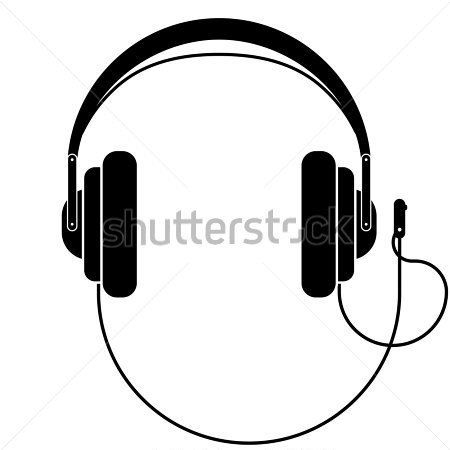 450x450 Headphones Clipart Black And White