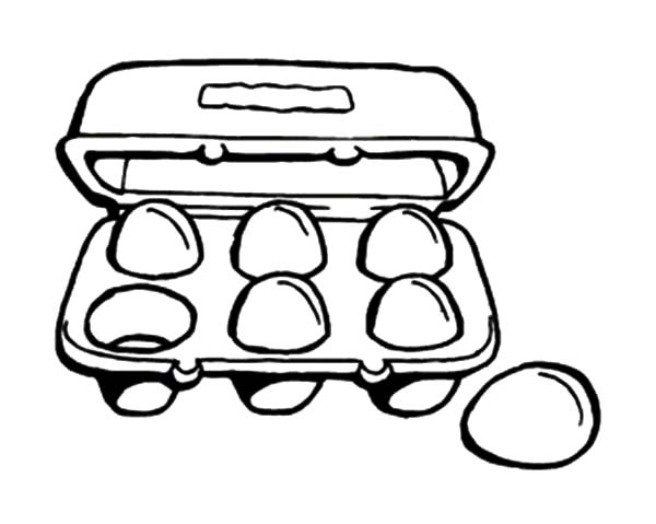 600x479 Carton Clipart Black And White