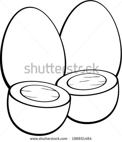403x470 Boiled Egg Clipart Black And White