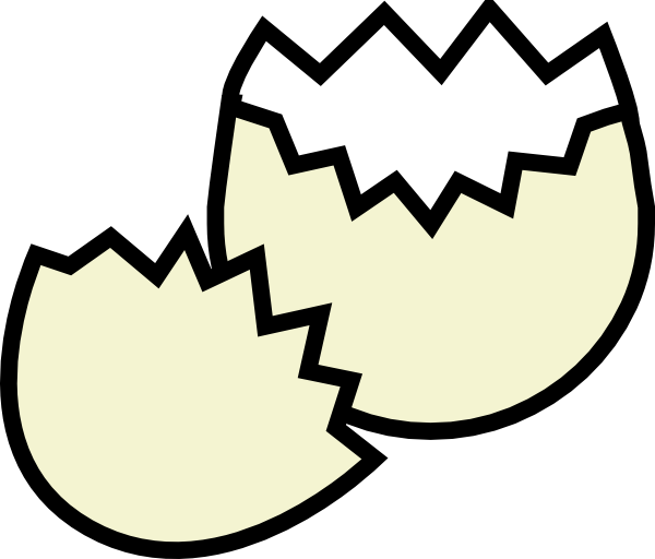 600x512 Cracked Egg Clip Art