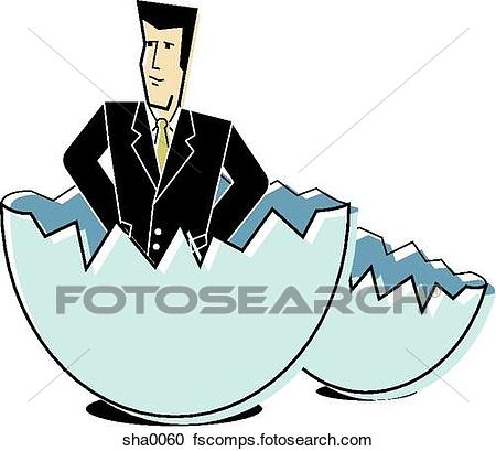 450x409 Stock Illustrations Of Businessman Hatching From An Egg Sha0060