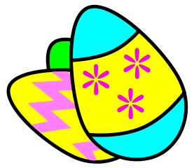 277x240 Free Colored Easter Eggs Clipart
