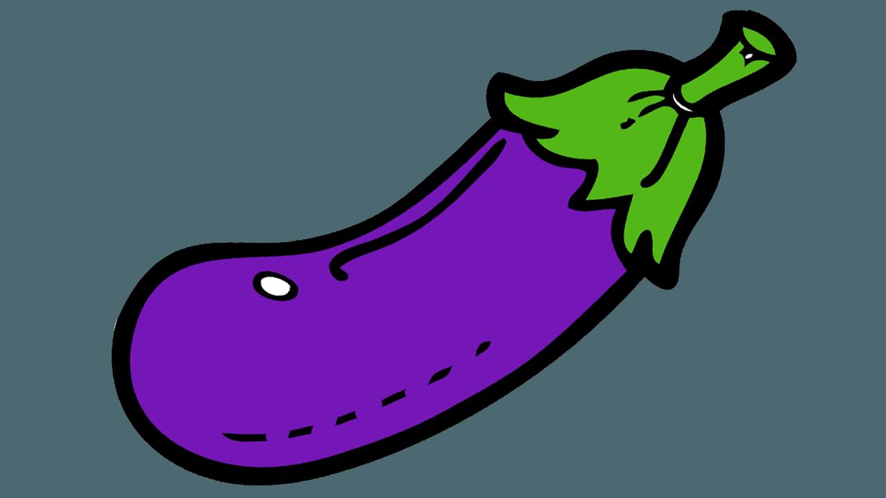 1280x720 Eggplant Clipart Purple Color