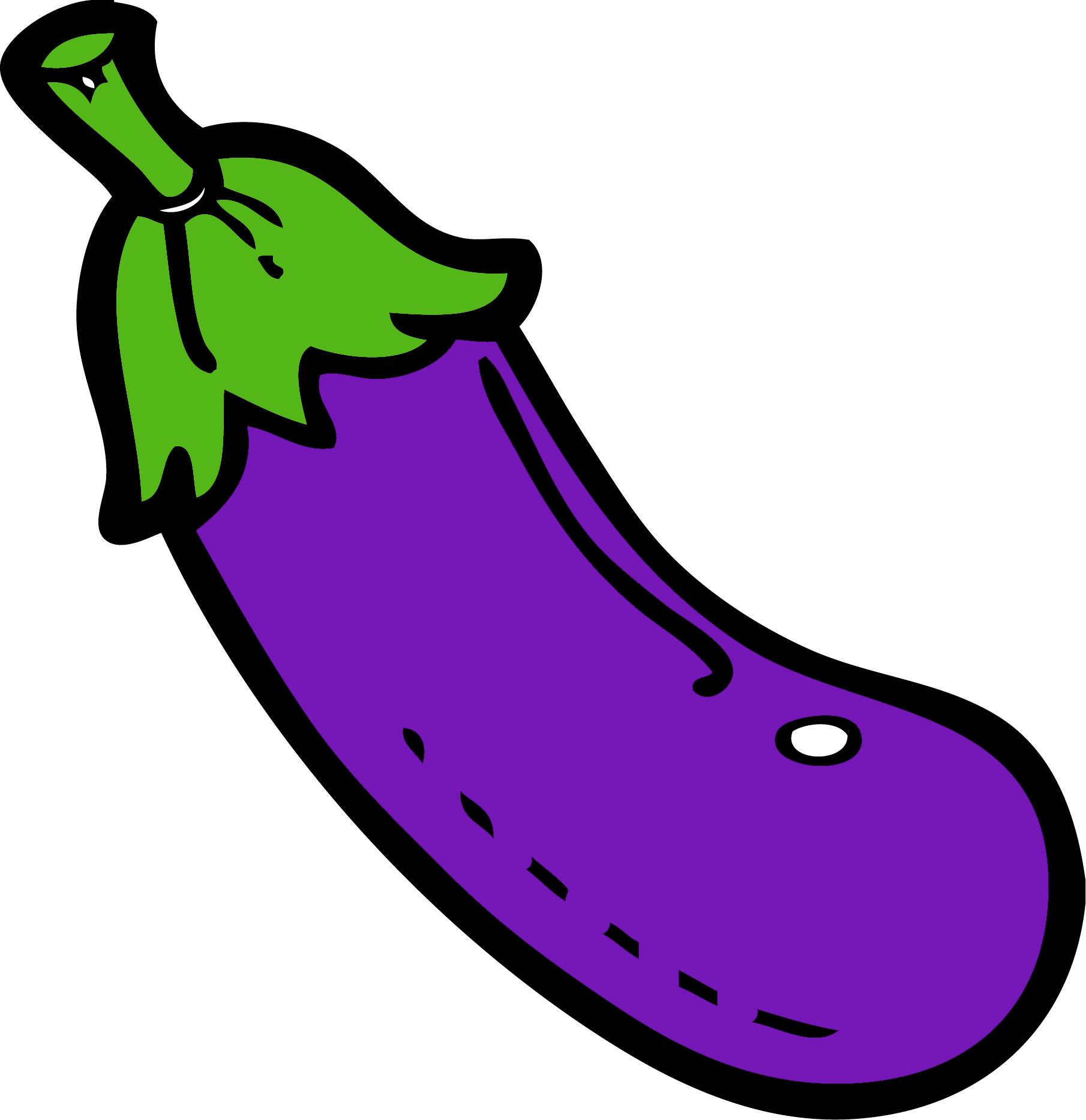 1810x1867 Funny Eggplant Clipart