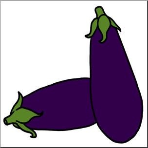 304x304 Clip Art Eggplant Color I Abcteach