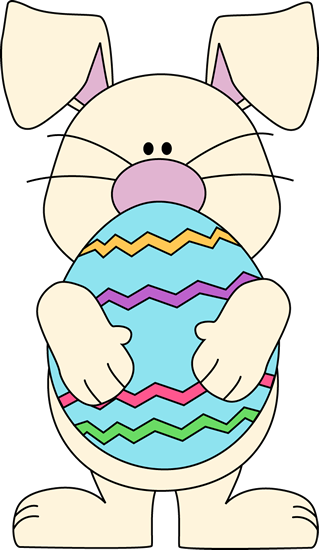 319x550 Easter Bunny Holding A Big Easter Egg. Easter Clipart Ideas