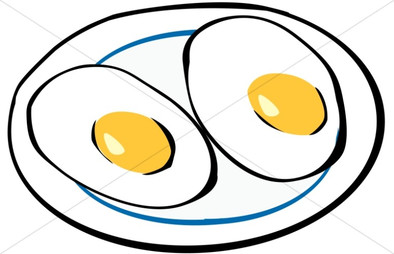 776x500 Sunny Side Up Eggs Clipart