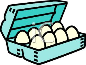 300x225 Carton Of Eggs Clipart Picture