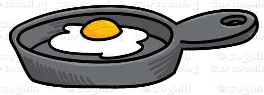 540x195 Cartoon Frying Pan Amp Egg Clip Art Clip Art Stock Illustration