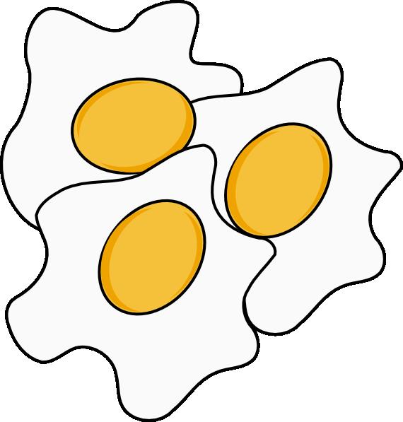 570x597 Fried Eggs Clip Art Free Vector 4vector