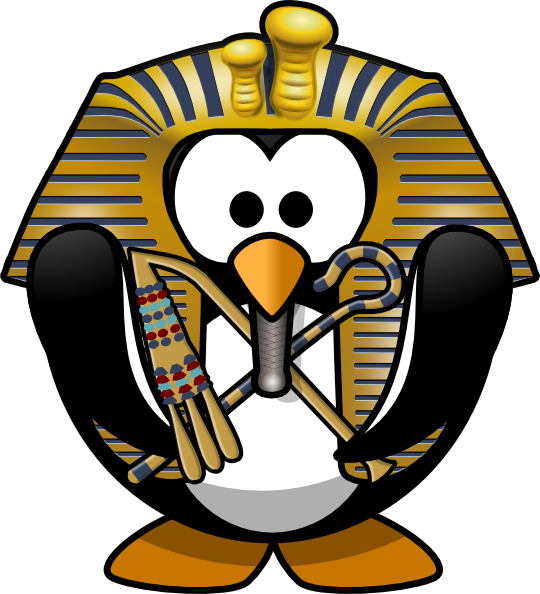 540x594 Egyptian Penguin Clip Art