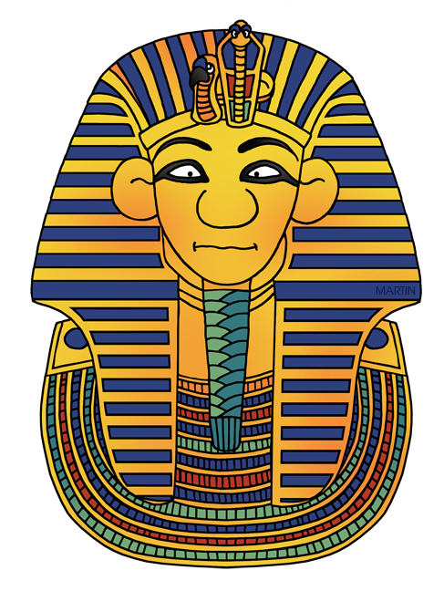 487x648 Ancient Egypt Clip Art By Phillip Martin, King Tut's Mask