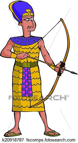 258x470 Clip Art Of Ancient Egyptian Warrior K20918787