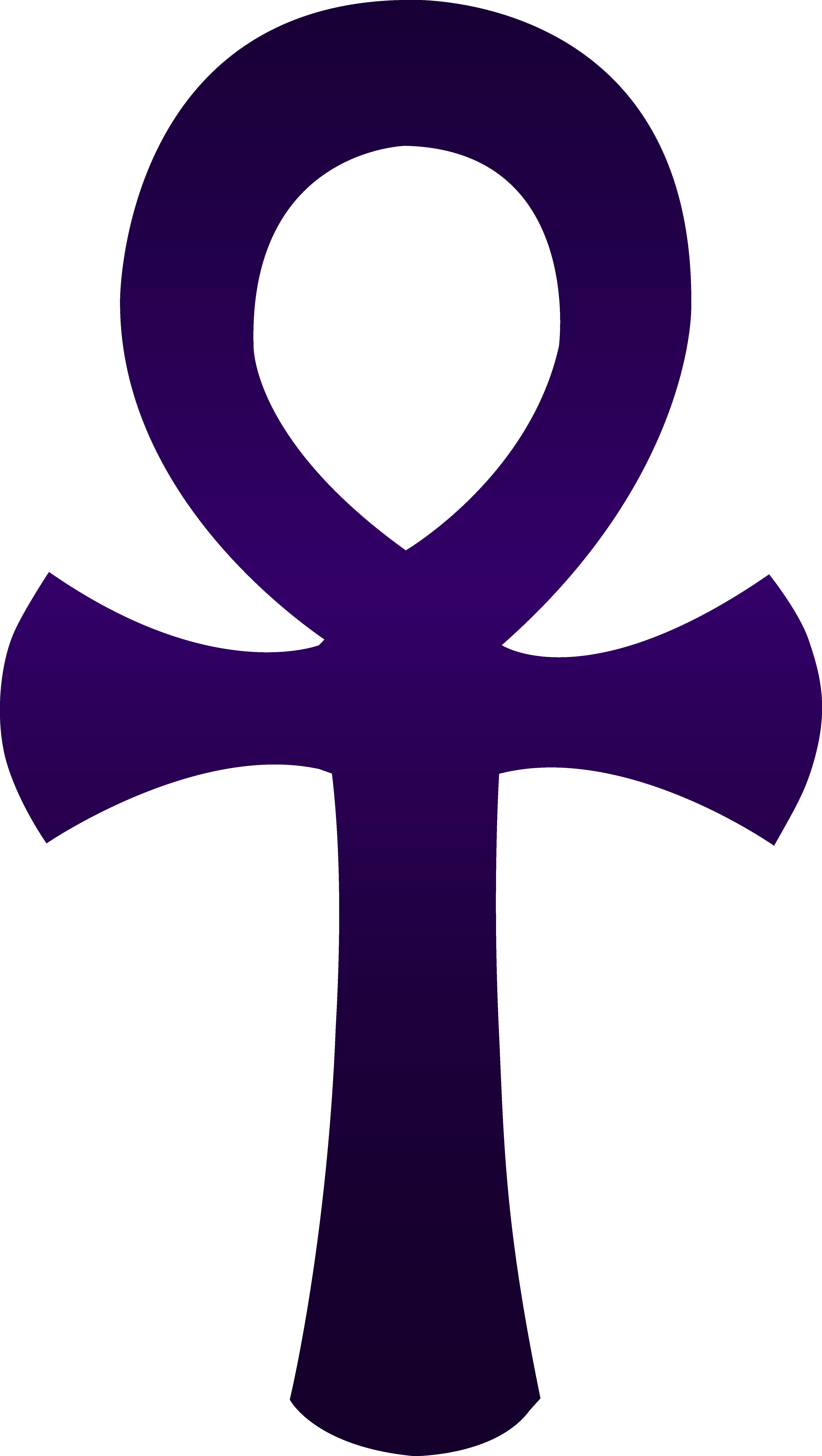 4610x8162 Violet Egyptian Ankh Symbol
