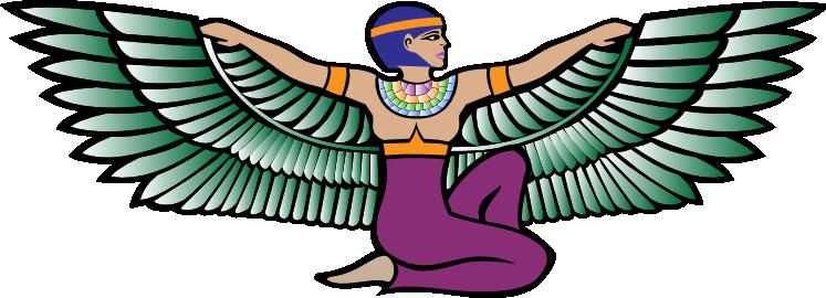 747x270 Angel Clipart Egyptian