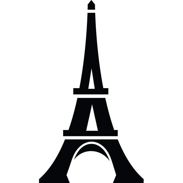 600x600 Eiffel Tower Landmark Clip Art For Custom Engraved Products