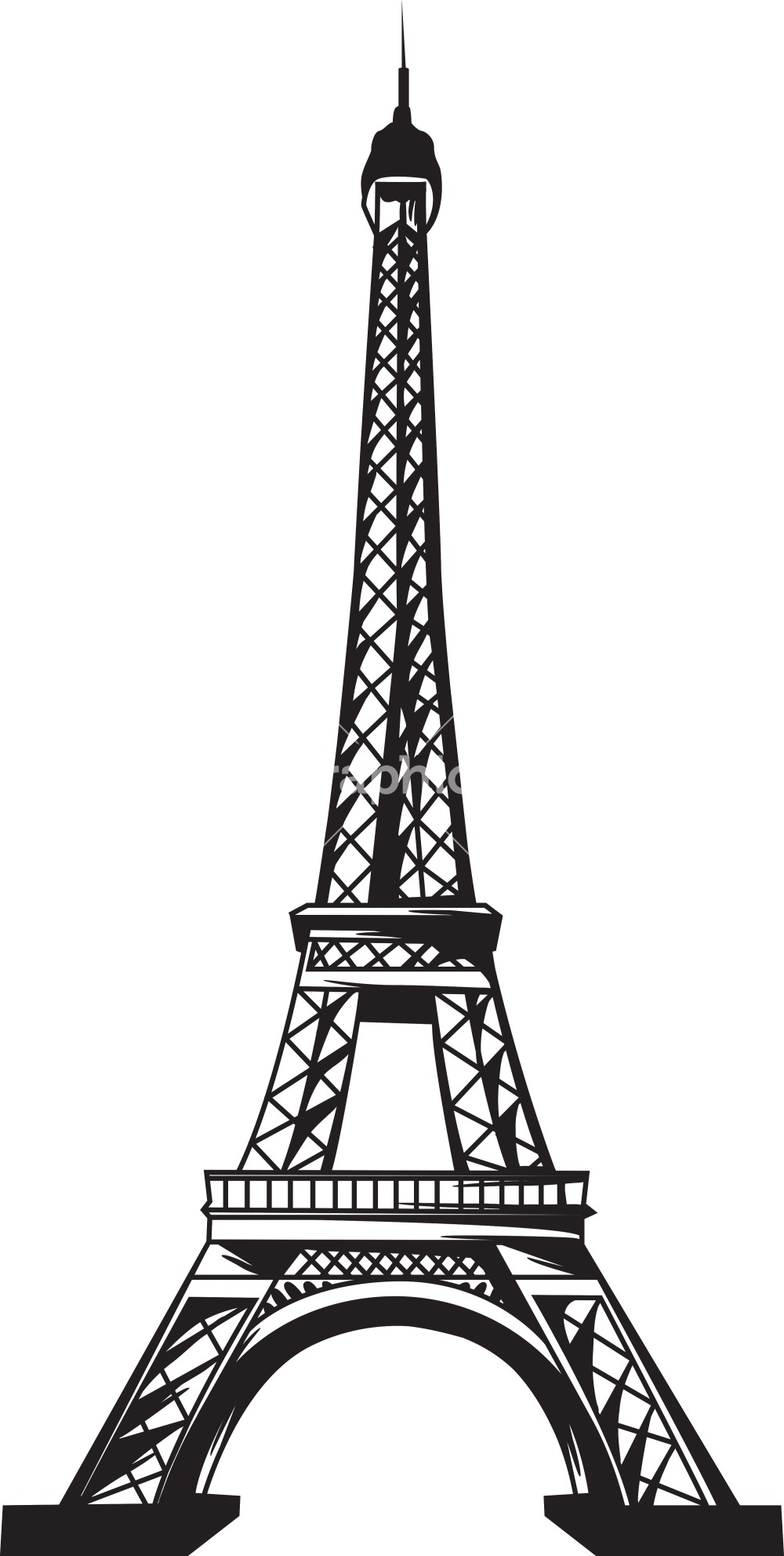 1000x1983 Eiffel Tower Vector Free Download Clip Art On 2