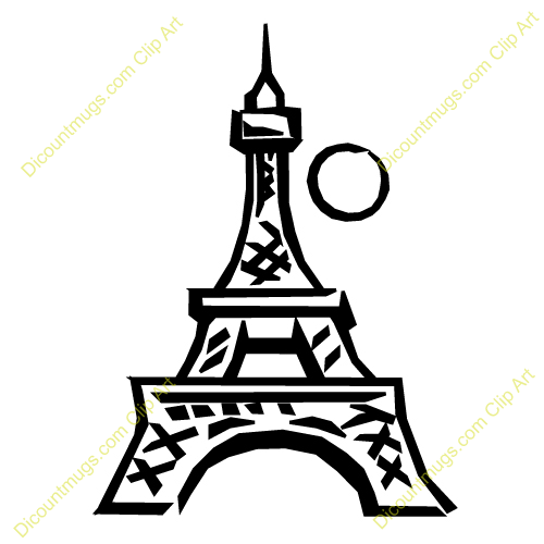500x500 Structure Clipart Eiffel Tower