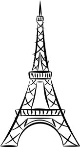 164x300 Easy Eiffel Tower Drawing These Die Cuts Will Make Great Vinyl