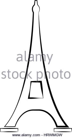 245x470 Eiffel Tower Icon Illustrated On A White Background In Vector