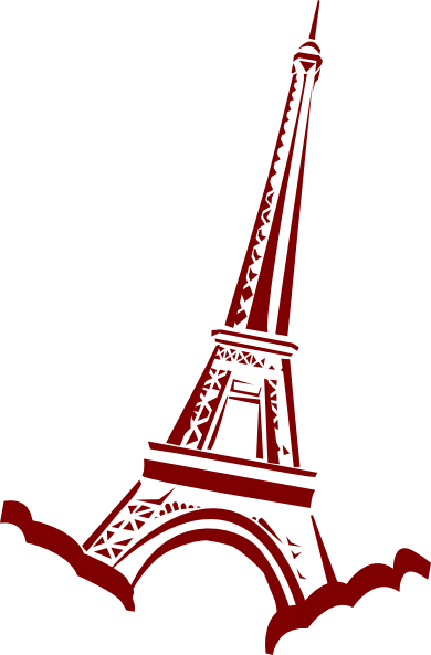 390x593 Eiffel Tower Line Drawing Clipart Free Clip Art Images Image 6 5