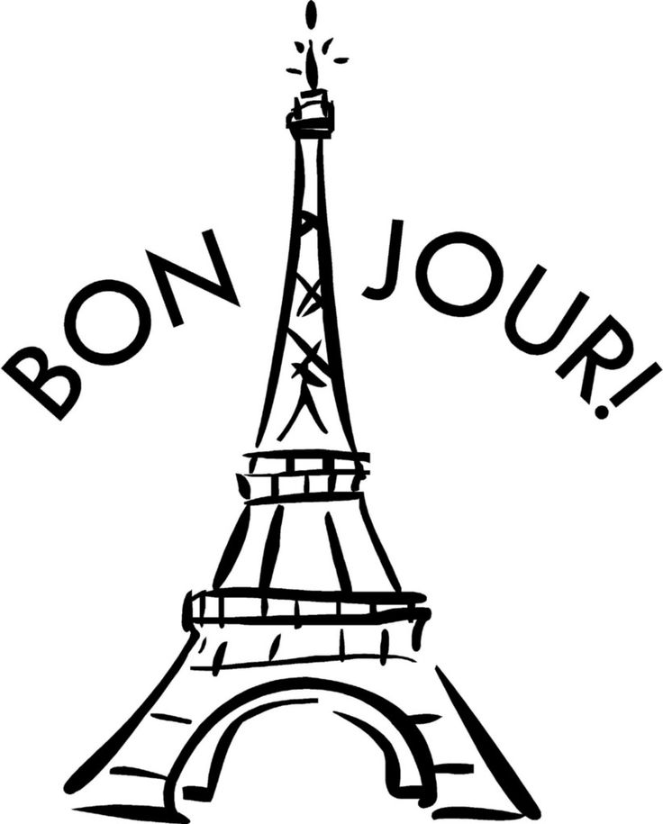 736x915 French Clipart Black And White