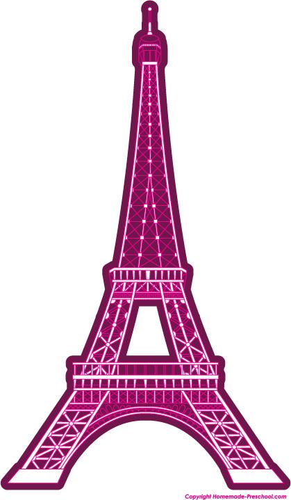 419x719 Pink Eiffel Tower Clip Art