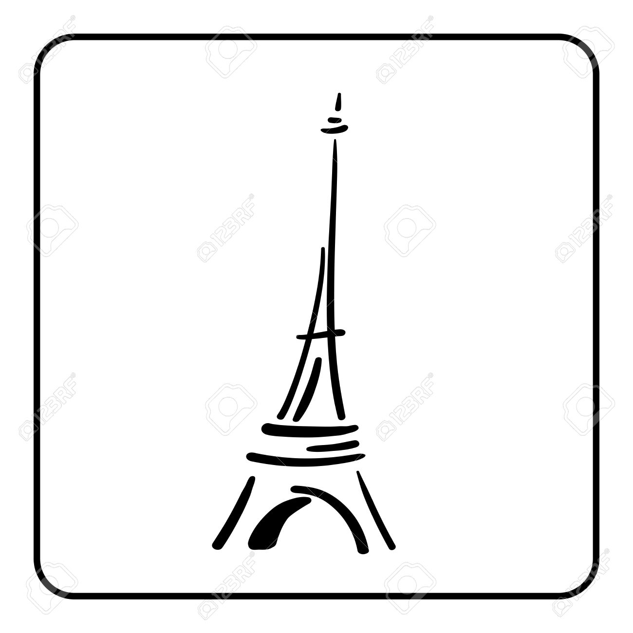 1300x1300 Simple Eiffel Tower Clip Art Project Process Flow Chart Marketing
