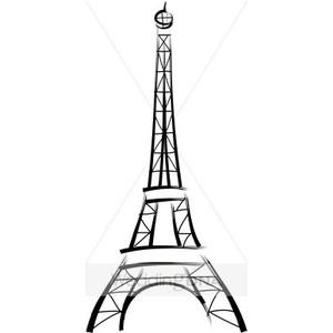 300x300 Drawn Eiffel Tower French Clip