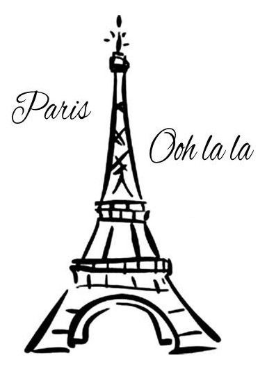 384x528 Eiffel Tower Paris France Ooh La La Vinyl Wall Mural Decor Decal