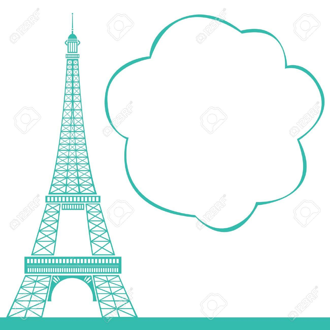 1300x1300 Eiffel Tower Royalty Free Cliparts, Vectors, And Stock