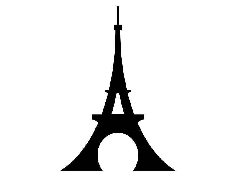 801x601 Eiffel Tower Clipart Stencil